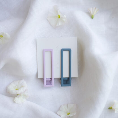 Lu Lu Lilac + Blue Hair Clip Pair Nat + Noor