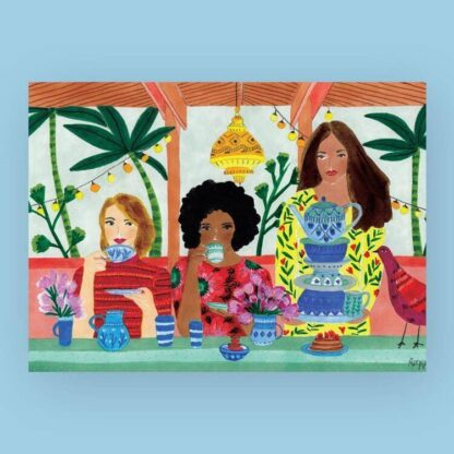 Tea for Three Jigsaw Puzzle Wander Puzzle Co.