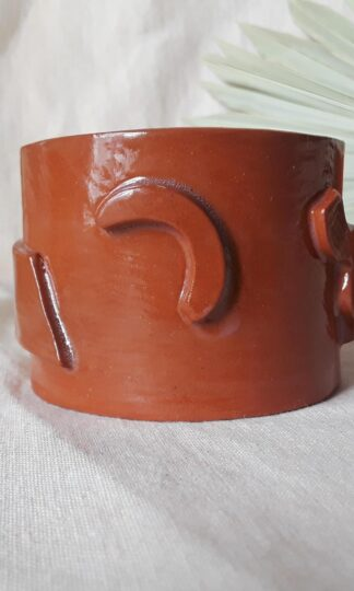 Flat Shapes Red Whiskey Cup Curious Clay