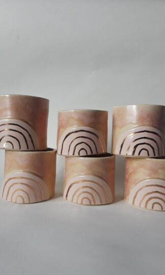 Golden Rainbow Tumbler Curious Clay