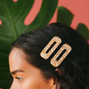 Dandelion Tortoise Hair Clip Duo Nat + Noor