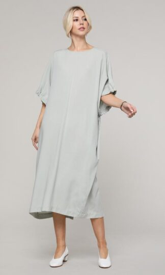 Tie Sleeve Tencel Dress by A Mente