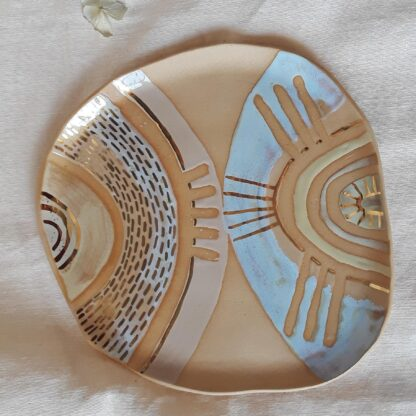 Gold Luster Cookie Plate by Curious Clay