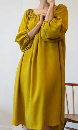 Peasant Tencel Dress by A Mente