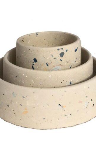 Trio Terrazo Bowls by Les Pids De Biche