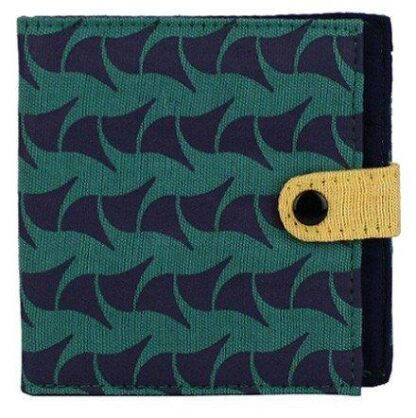 Teal Ray Square Wallet Malia Designs
