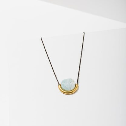 Amazonite Sun and Moon Necklace from Larissa Loden