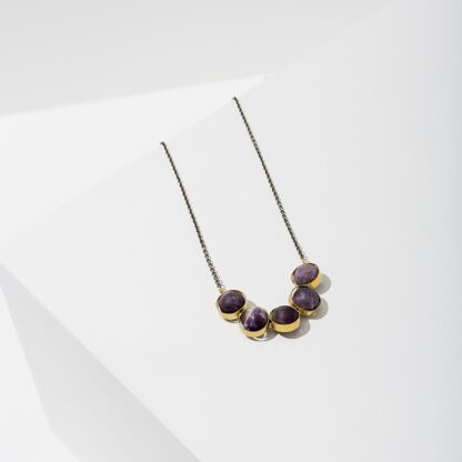 Amethyst Alignment Necklace by Larissa Loden
