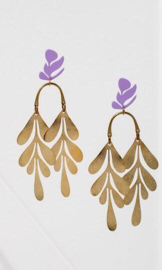 Soiree Earrings Purple from Larissa Loden