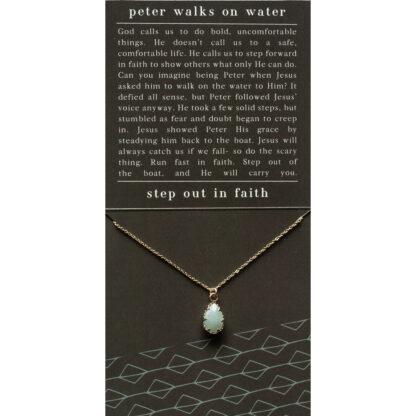 Peter Walks on Water Necklace by Dear Heart.