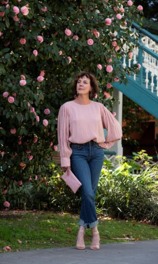 Tencel Puff Sleeve Top A Mente Blush