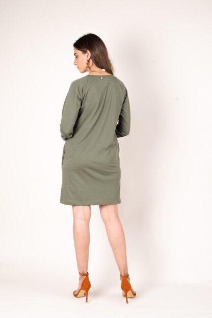 The Kehema Dress Tonle' in Moss