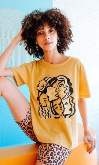 Gold Dust Girl Gaze Boxy Top Dazel LA