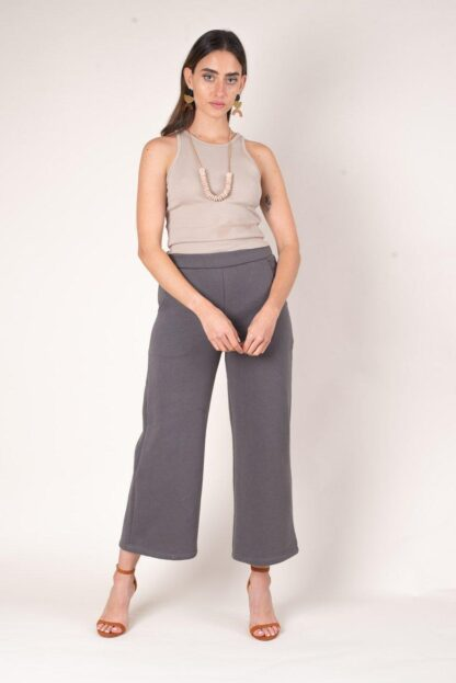 Rib Crop Top Beige Tonle'