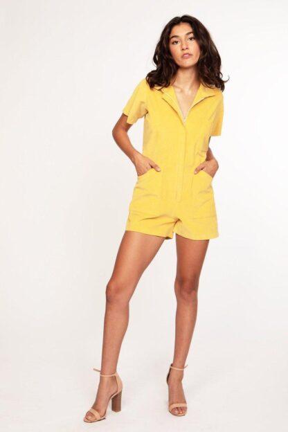 Cord Union Shortalls Cameo Clothing Line Mustard