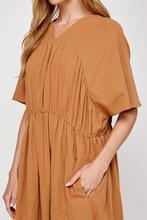 Drop Sleeve Loose Midi Clay A Menta Ethically MAde, Sustainable, Eco-friendly A Mente