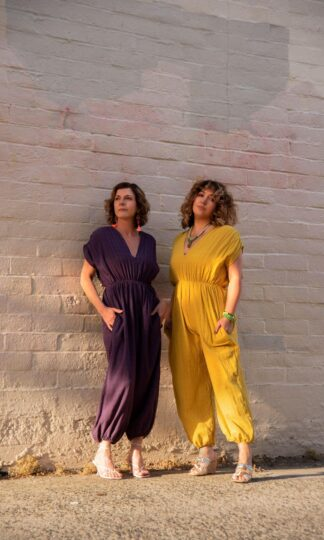 The Genie Jumpsuit The Harem Jumpsuit Cameo Clothing Mustard, Purple