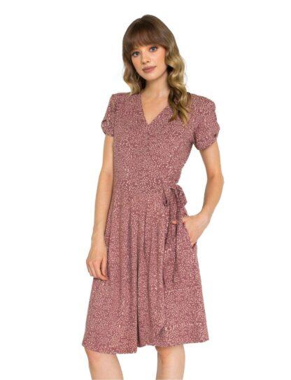 MAUVE DOTS ORGANIC JERSEY DRESS Passion Lilie